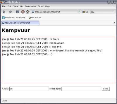 Kampvuur screenshot